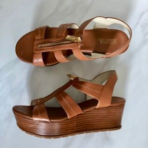 MICHAEL Michael Kors Leather Zip Platform Sandal